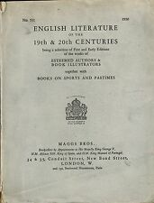 Maggs Brothers English Literature, Books Sports Pastimes, 19th 20th Century 1930