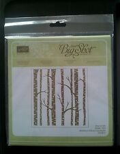 STAMPIN UP WOODLAND TEXTURED EMBOSSING FOLDER Winter Forest Tree Background NIP.