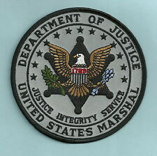 """GRAY SUBDUED UNITED STATES MARSHAL DOJ POLICE PATCH 4"""""""