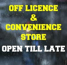 OFF LICENCE Window Stickers Front Shop Vinyl Graphics Self Adhesive Decal Large