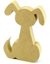 Baignoir 18mm mdf chien forme craft blanc signe animal