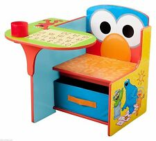 Elmo Storage Desk School Kids Activity Chair Play Table Furniture Sesame Street