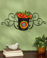 Spring Sunflower Seasonal Metal Wall Decor Snowflake Autumn Pumpkin Wall Vase