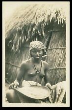 AFRIQUE OCCIDENTALE FRANCAISE - SÉNÉGAL - Préparation du Mil postcard