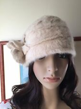 New Christmas Winter Cream Angora Wool Cloche Beanie Skater Hat Snoxell Gwyther