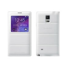 Samsung Galaxy Note 4 Case, S View Flip Cover Folio Case - White
