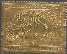 DAHOMEY:1969 Apollo 8  1000F embossed on gold foil -SG 370  unmounted mint