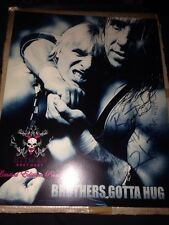 Bret Hitman Hart - HAND SIGNED RARE 10x8 Photo DIRECT FROM BRET'S HOME WWE Owen