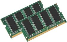 2GB PC2700 DDR 333 LAPTOP RAM MEMORY 2 X 1GB Dell Latitude 100L c540 c640 d800