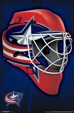COLUMBUS BLUE JACKETS - MASK LOGO POSTER - 22x34 NHL HOCKEY 15287