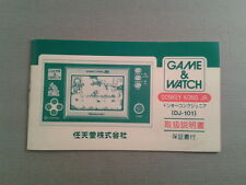 NINTENDO GAME&WATCH WIDESCREEN DONKEY KONG JR. DJ-101 JAPAN INSTRUCTION MANUAL