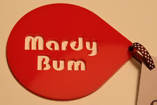 'Mardy Bum' Coffee Stencil novelty gift idea  Yorkshire themed - Red