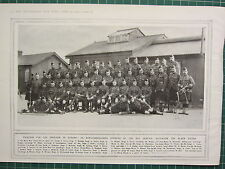 1915 WWI WW1 PRINT ~ NON-COMMISSIONED OFFICERS 8th BATTALION BLACK WATCH ~ NAMED