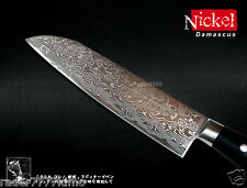 "Handmade Nickel Damascus Chef's Vegetable Santoku Knife 7"" Wood Handle Cutlery"