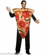 Get Real PIZZA SLICE Adult Costume Novelty Food Pepperoni Funny Mens Unisex NEW