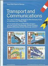 wbc. - GB - ROYAL MAIL POSTERS - A4 - 1988 - TRANSPORT &  COMMUNICATIONS