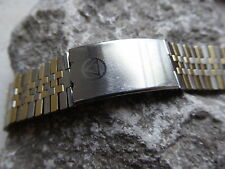 Gent's Vintage Old Stock NSA Steel Inox & Gold Swiss Made Wristwatch Strap 18 mm