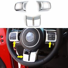 3pc Chrome Steering Wheel Cover Trim Fit Wrangler Compass Patriot Grand Cherokee