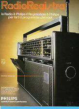(AM) EPOCA975-PUBBLICITA'/ADVERTISING-1975- PHILIPS RADIOREGISTRATORE RR 644