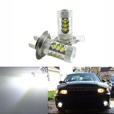 2x 6000K White H7 80W Epistar LED Bulbs only for Fog Lights and DRL