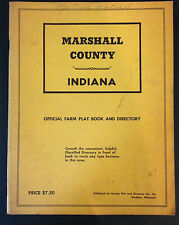 1950's MARSHALL County Indiana Farm Plat Book/Map History Land Ownership