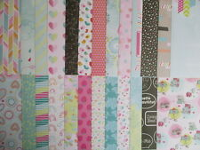 "25 sheets Sherbert Sky 12x12"" Scrapbook backing papers - bright pastel floral"