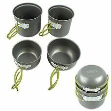 Military Mess Kit 4-Piece Heavy-Duty Army Outdoor Cooking, Camp Backpacking Gear