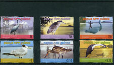 Papua New Guinea 2005 MNH Sea Birds 6v Set Egrets Herons Godwit Terns Stamps