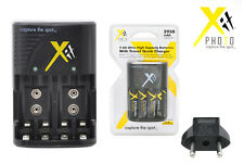Charger + 4 AA Rechargeable Batteries 2950mA FOR 2 9V  Ni-MH/Ni