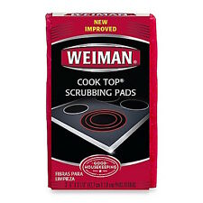 Weiman Cook Top Scrubbing Pads, 3 count,  Kitchen Organization Cleaning