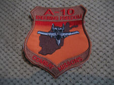 NEW USAF A-10 Enduring Freedom OEF Combat Missions Patch