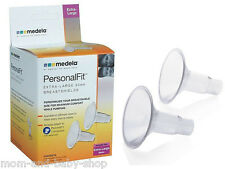 MEDELA BREASTPUMP BREASTSHIELDS BREAST SHIELDS XL 30 MM x2 RETAIL SEALED #87075