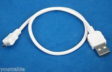 30cm 1ft SHORT Micro USB Cable WHITE for Sony ebook Reader PRS-T3 PRS-T2 PRS-T1