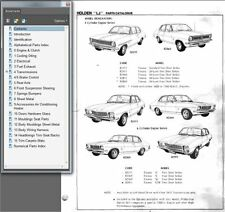 HOLDEN TORANA 1970-74 LC & LJ GTR XU1 PARTS CATALOG SERVICE BULLETINS MANUAL  CD