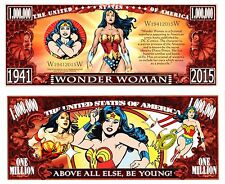 WONDER WOMAN Novelty Bill plus protector & Free Shipping