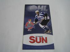2001/02 OHL ONTARIO HOCKEY LEAGUE OFFICIAL SCHEDULE***THE TORONTO SUN***