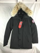 NEW CANADA GOOSE CHATEAU PARKA BLACK MEN L LARGE AUTHENTIC DOWN WARM JACKET