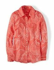 NWT BODEN CASUAL RED RETRO LEAF SHIRT BLOUSE TOP SIZE US 8