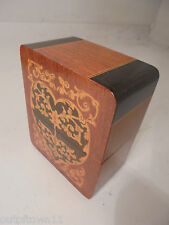 Vintage Heart Shaped inlaid Playing Card Box , Sorrento Ware type     ref 894