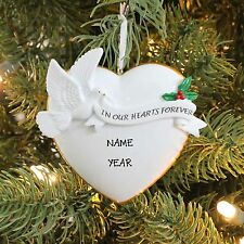 In Our Hearts Forever MEMORY DOVE Personalized Christmas Tree Ornament GIFT NEW