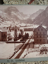 PHOTO STEREO SUISSE LINTHTHAL  Photographe J.MEINER ZURICHstereoview