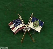 GIRL SCOUT 1941 BIRTHDAY GIFT - CROSSED FLAGS