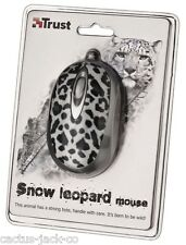 NEW TRUST 16965 UNIQUE WILDLIFE SNOW LEOPARD OPTICAL USB MINI MOUSE