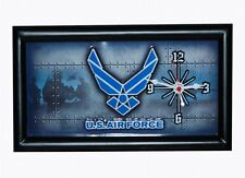 US Army Airforce Insignia Clock Watch Wanduhr Standuhr Navy Vietnam USAF WWII