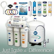 5 Stage Home Drinking Reverse Osmosis System FREE DELUXE FAUCET FREE SHIPPING