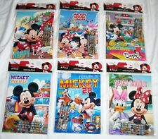 12 Mickey Mouse Friend Coloring Books + 48 Crayon Disney Party Favor Wholesale