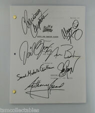 BUFFY THE VAMPIRE SLAYER cast signed script Sarah Michelle GELLAR HANNIGAN