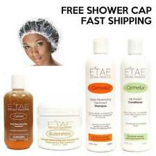 E'tae Shampoo + Conditioner + Carmel Treatment + Buttershine + Free Shower Cap