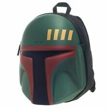 Star Wars Boba Fett 3D Sci Fi Helmet Jango Luke Travel School Book Bag Backpack
