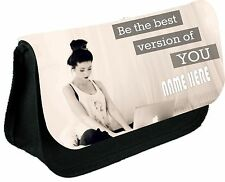 Zoella be the best version of you personalised pencil cases / Make up Bag